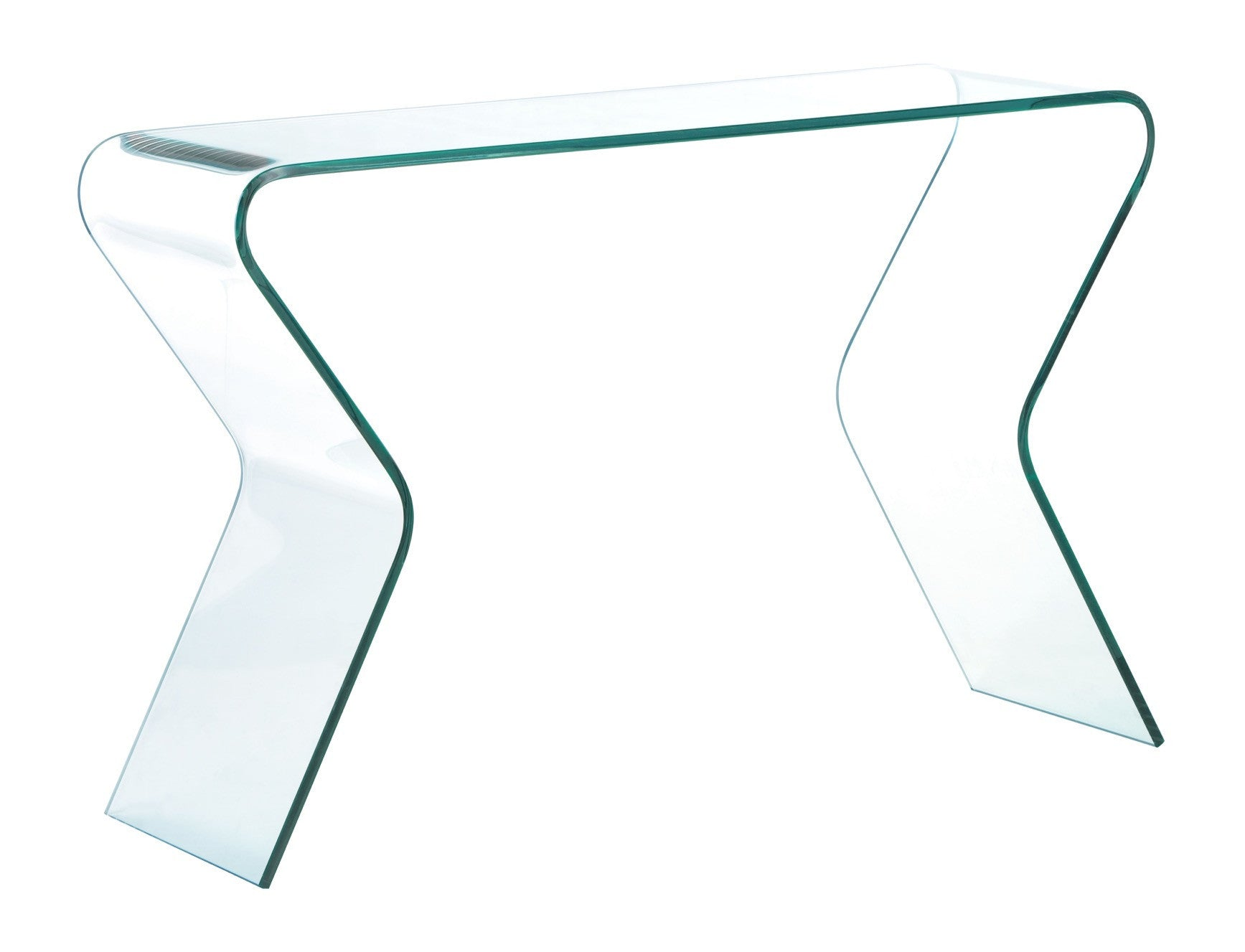 Respite Console Table In Clear Tempered Glass Console Tables Alan Decor ...