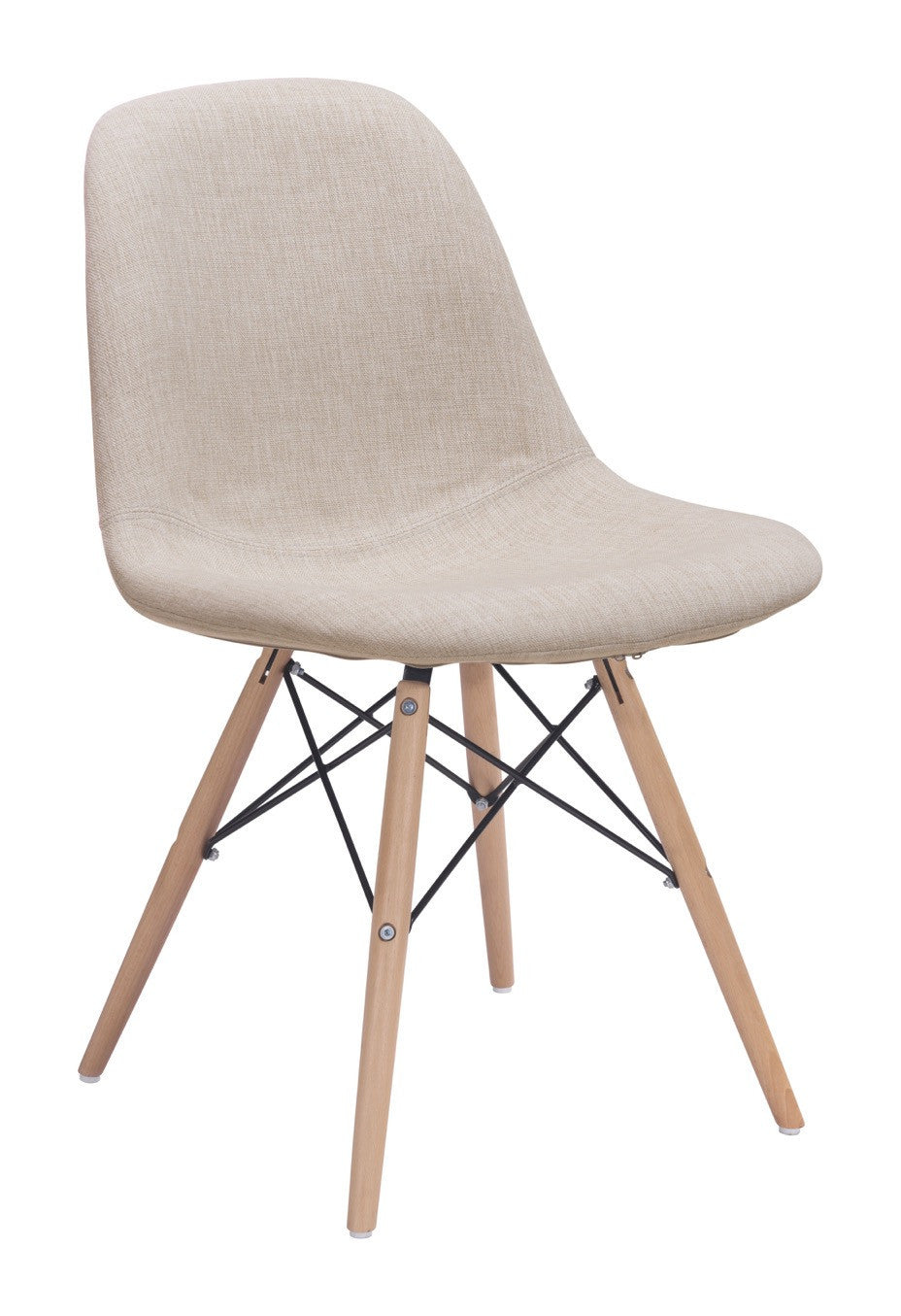 Selfie Dining Chair In Beige Poly Linen On Beech Legs Dining Chairs Alan  Decor ...