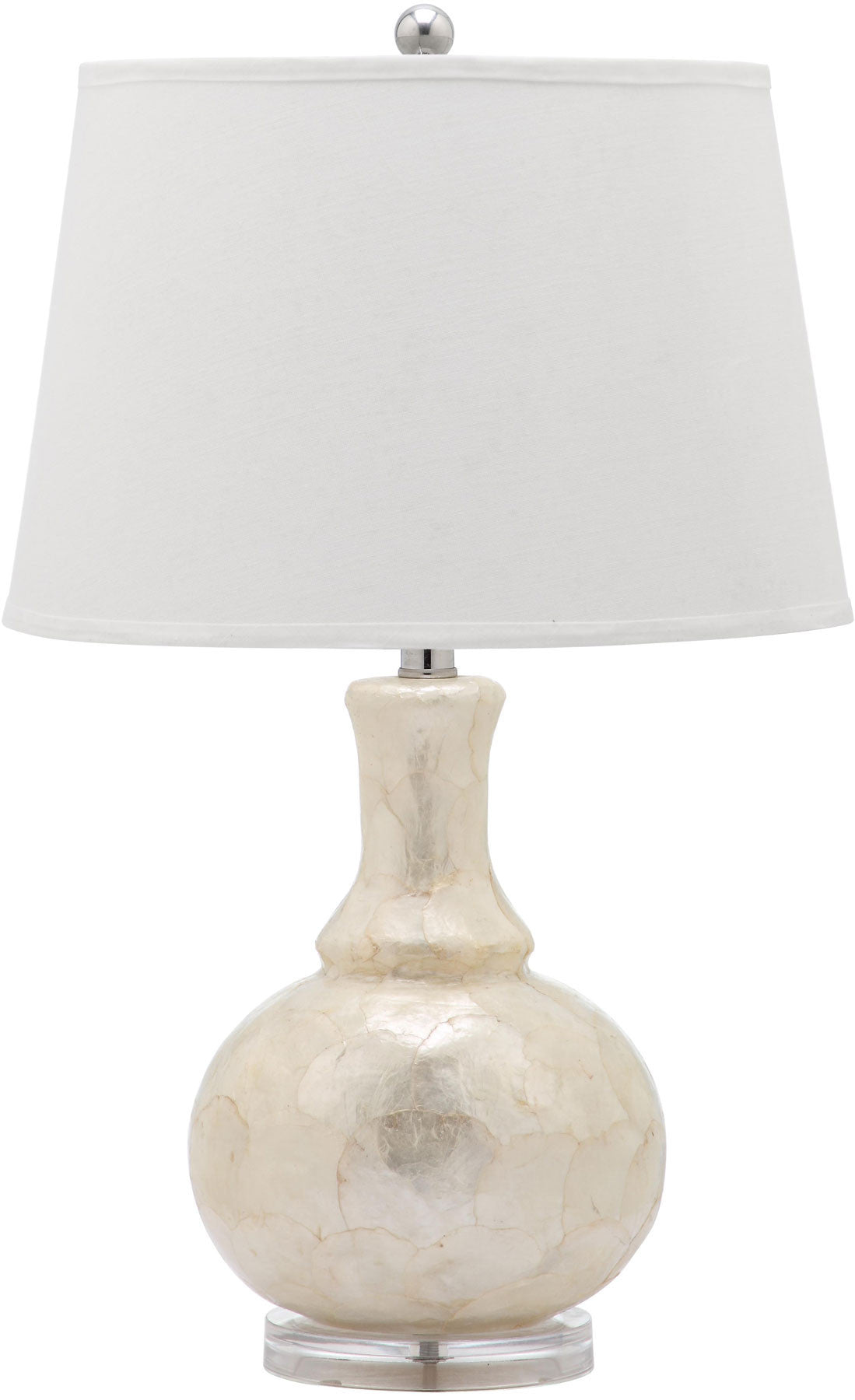 Shelley Gourd Table Lamp In Capiz Shell With White Shade (Set Of 2)  ...