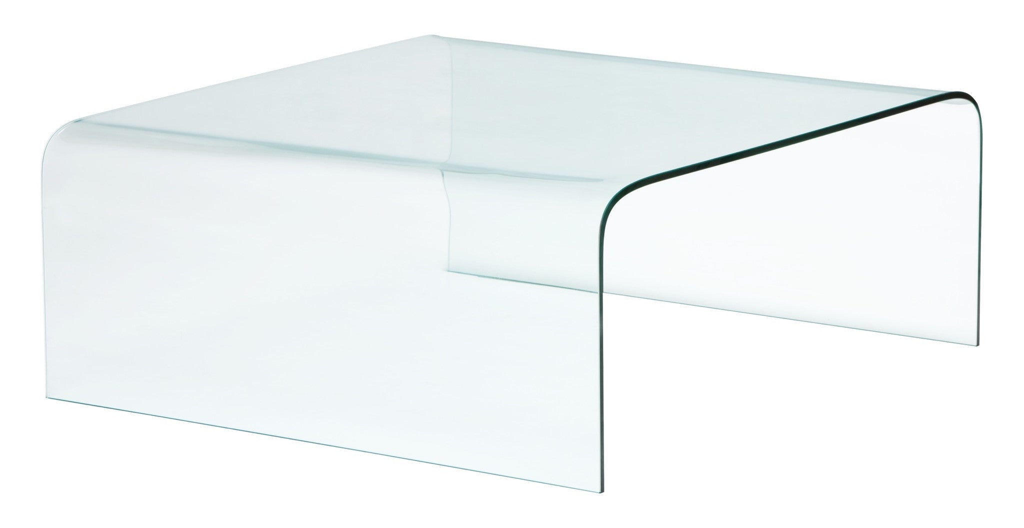 Sojourn Coffee Table In Clear Tempered Glass Coffee Tables Alan Decor ...