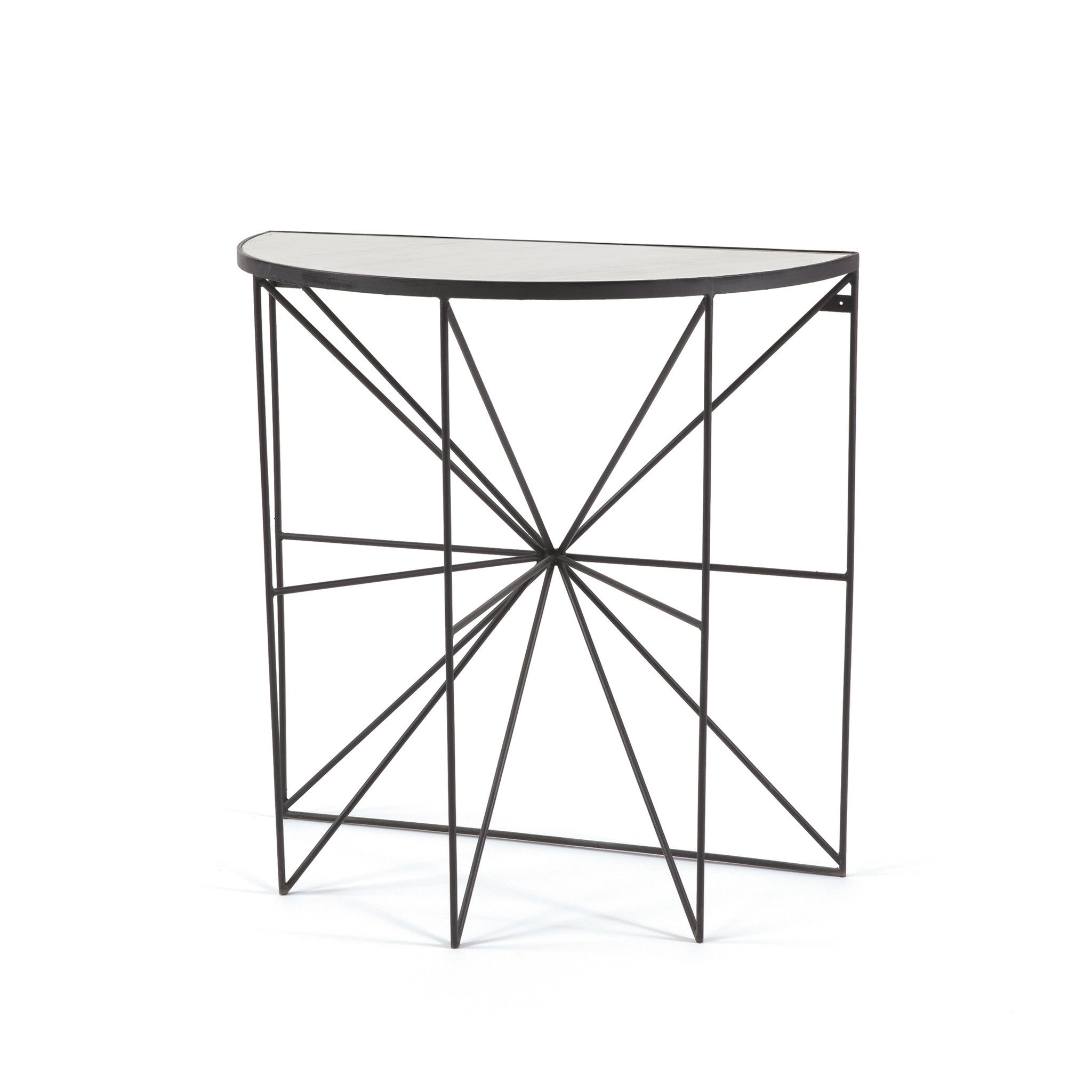 Vacanze console table with marble top on iron base vacanze console table with marble top on iron base console tables alan decor geotapseo Choice Image