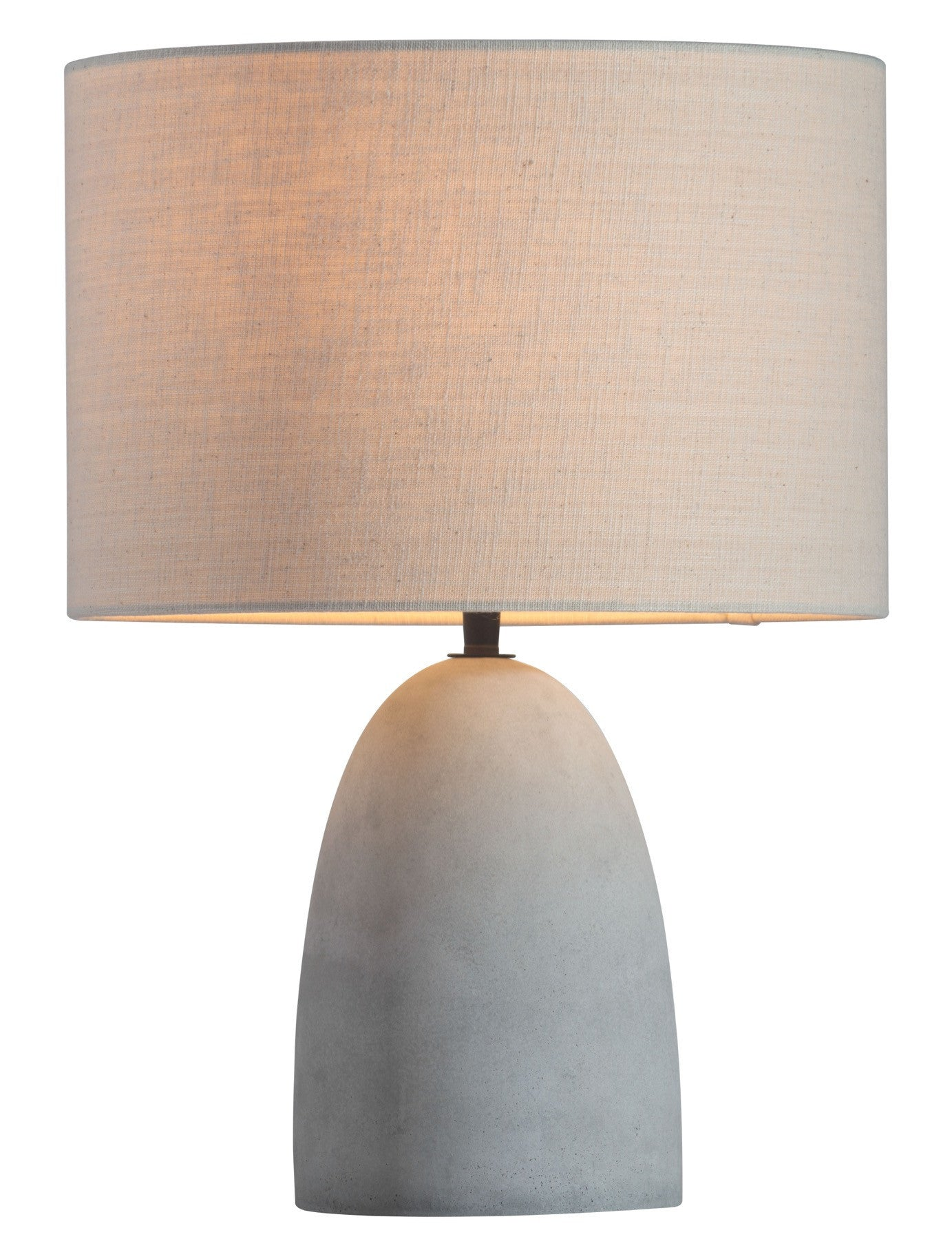 Vigor table lamp in concrete gray with beige shade vigor table lamp in concrete gray with beige shade table lamps alan decor geotapseo Choice Image