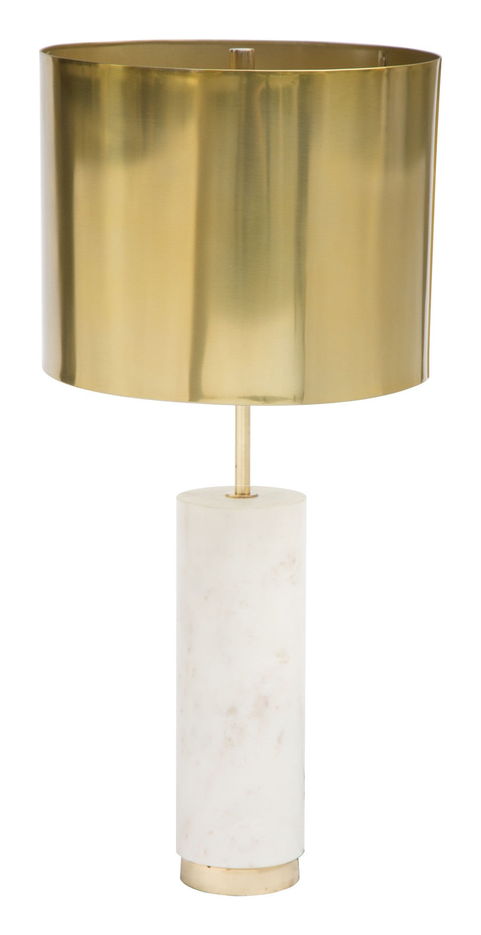 York table lamp in white marble with gold finish metal base york table lamp in white marble with gold finish metal base table lamps alan aloadofball Images