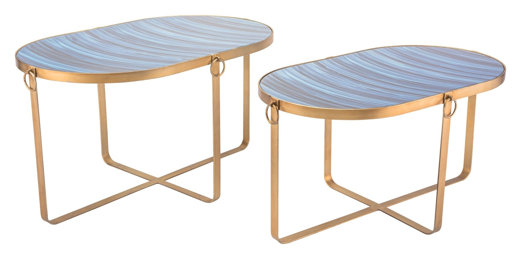 accent antique modern gold collection zuo table como