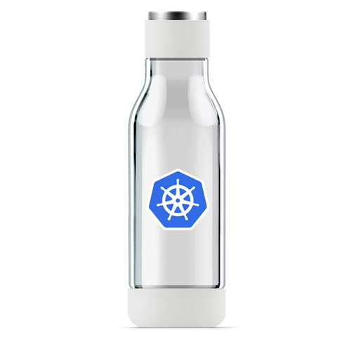Kubernetes Inner Peach Glass Dbl Wall Bottle