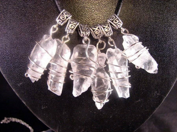 ONE GORGEOUS WHITE ICE ELESTIAL MOLDAVITE CALCITE CRYSTAL PENDANT
