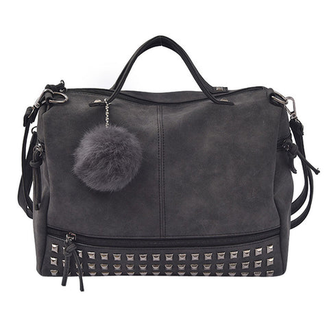 Rivet Satchel Shoulder Bag