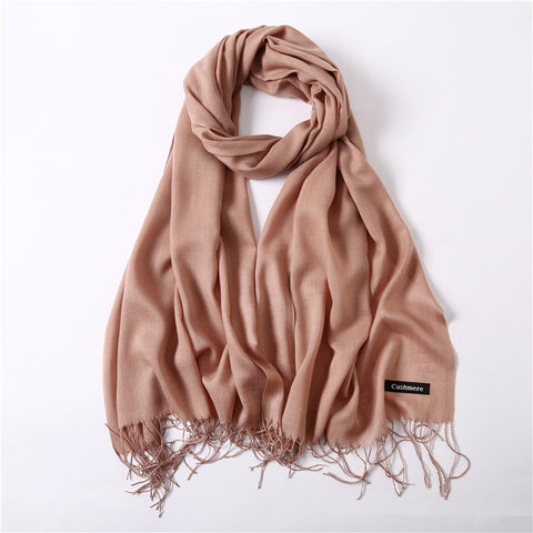 Solid shawls and wraps pashmina scarfs