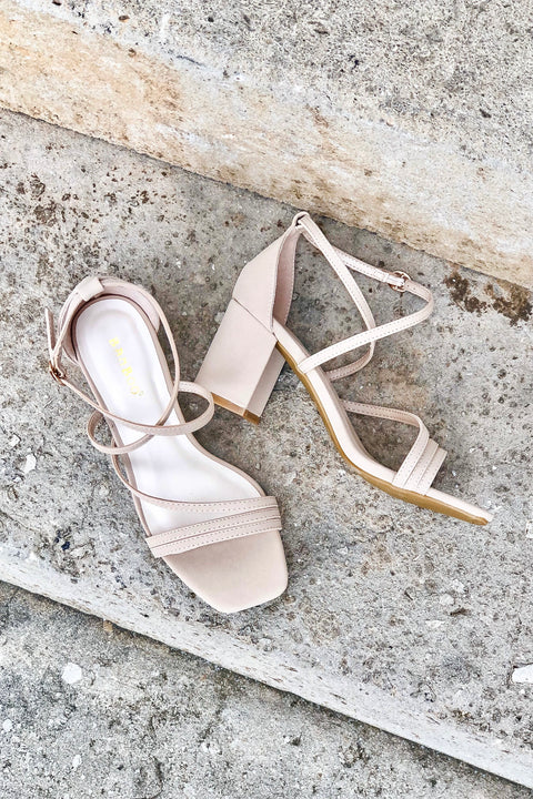 Pretty Thing Strappy Block Heels