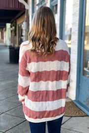 Throw and Go Striped Sweater