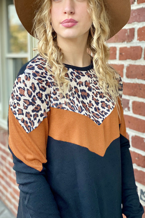 Double Take Color Block Top