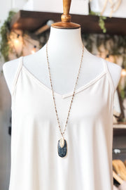 Sail On Metal & Stone Necklace