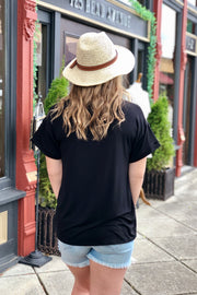 Plain as Day Pocket Tee- Black