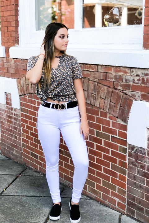 KanCan White Out High Ride Super Skinny Jeans