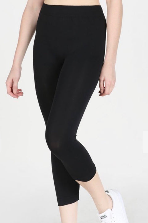 Capri Leggings- Black