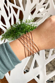 Erimish Criss Cross Cuff- Rose Gold