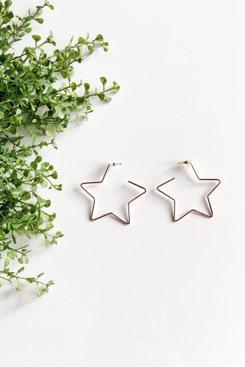 Be a Star Earrings - Rose Gold