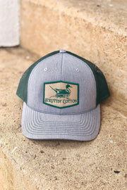 Struttin' Cotton Pintail Patch Snap Back Trucker Hat - Gray/Green