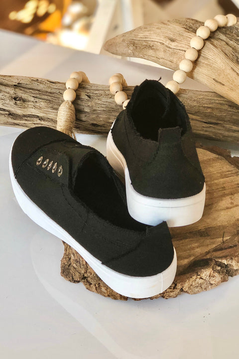 Unstoppable Canvas Sneakers- Black