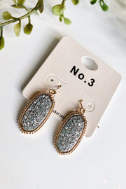 Dazzle Rhinestone Earrings- Gold with Clear Stones