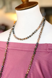 Show Off Beaded Necklace- Mocha