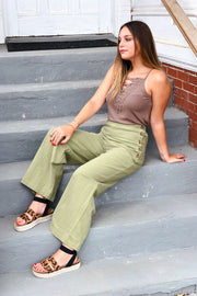 Carried Away Pants- Olive