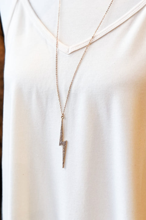 Brave the Storm Lightening Bolt Necklace