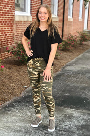 L&B Gone Girl Camo Moto Jeggings