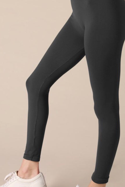 Butter Soft Ankle Length Leggings- Charcoal Grey