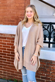 Take a Chance Knit Cardigan- Taupe