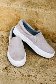 Soul Searching Sneakers- Gray Suede
