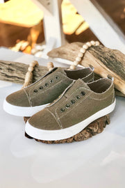 Unstoppable Canvas Sneakers- Taupe