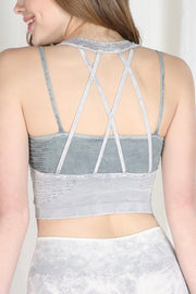 X Marks the Spot Workout Bralette- Black