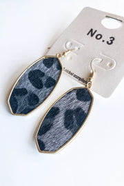 Calf Hair Animal Print Earrings