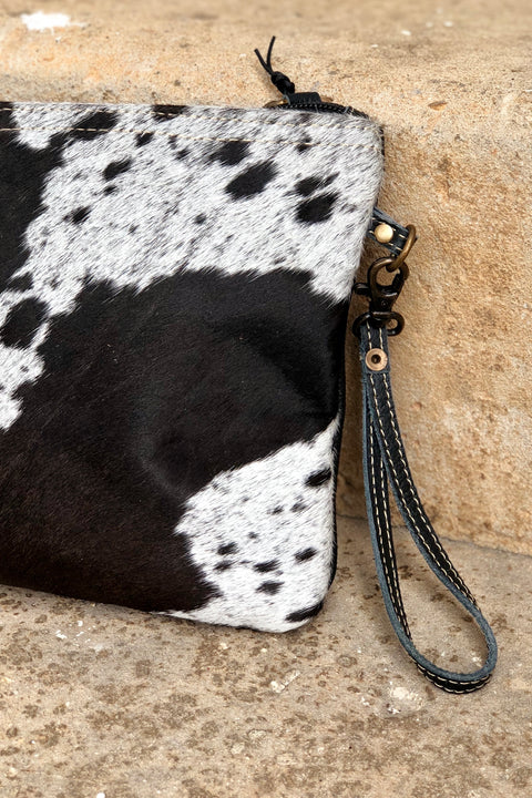 Myra Shade Crossbody/Clutch Bag - Black & White
