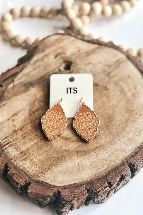 Candlelight Wood & Metal Earrings