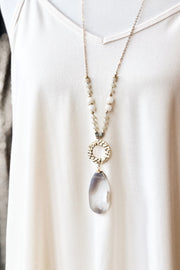 Southbound Oval Stone Pendant Necklace - Ivory