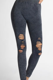 On the Run Distressed Vintage Jeggings- Denim