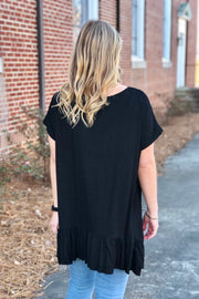 Dark Moon Ruffled Top