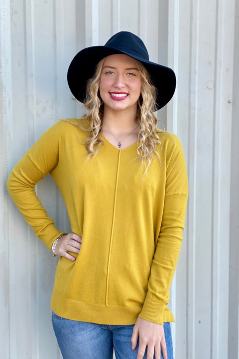 Soft Haven Knit Sweater- Mustard