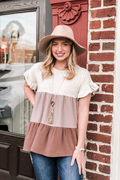 Taupe Dreams Top