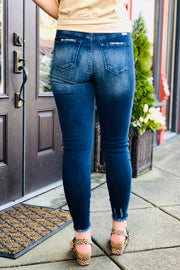 Kan Can Mid-Rise Ankle Skinny Jeans