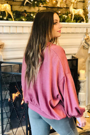 Dinner Date Pullover- Mauve