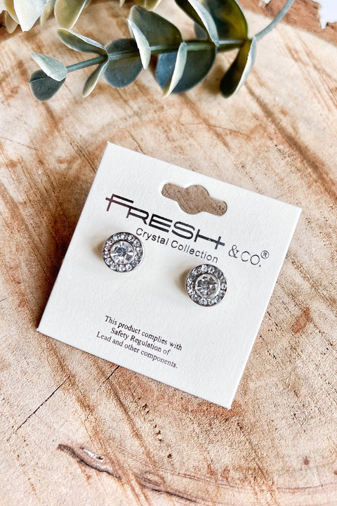 Everglow Crystal Earrings- Rhodium