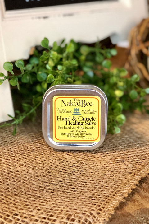 The Naked Bee Hand & Cuticle Healing Salve 1.5 oz.