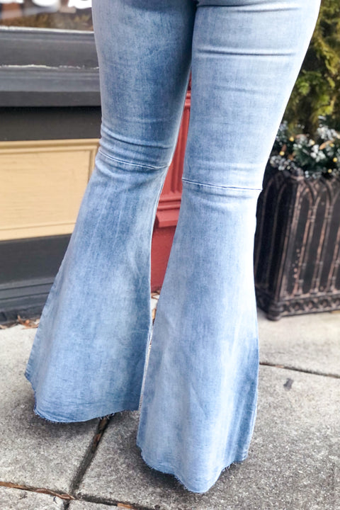 Hollywood Super Flare Light Wash Jeans