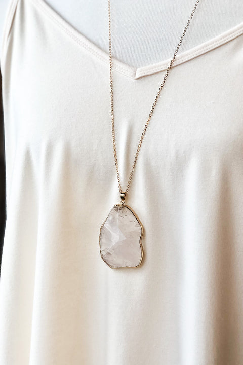 Grand Canyon Natural Stone Necklace- White
