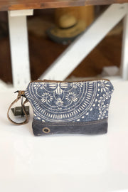 Myra Kilim Small Pouch Bag in Navy