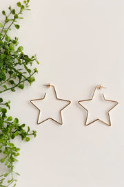 Be a Star Earrings - Gold