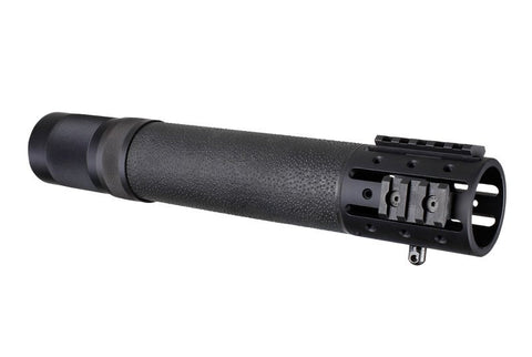 AR-15 FREE FLOAT FOREND WITH OVERMOLD GRIPPING AREA AND ACCESSORY ATTACHMENTS